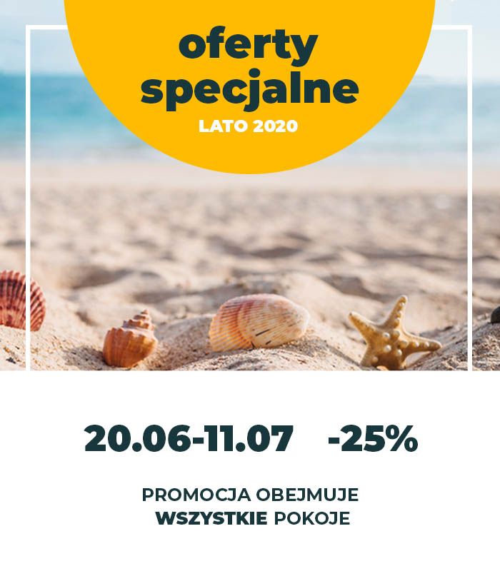 Pokoje Blisko Plaży - oferty specjalne, promocja